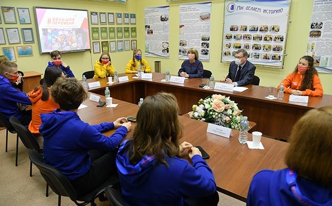 Александр Бурков встретился с победителями конкурса «Большая перемена»