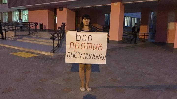 «Дети — не кролики для экспериментов»: нижегородки вышли на одиночные пикеты против дистанта