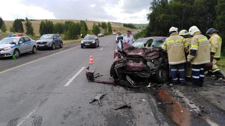 В Башкирии столкнулись KIA Spectra и «УАЗ-Патриот»: погибла женщина