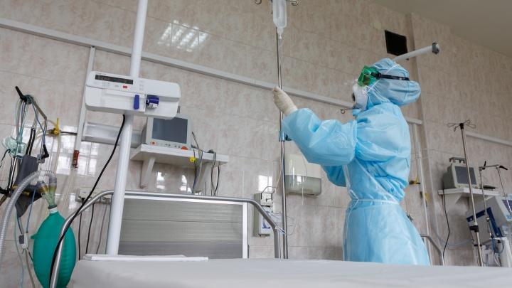 В Архангельской области свободно больше половины коечного фонда для пациентов с COVID-19