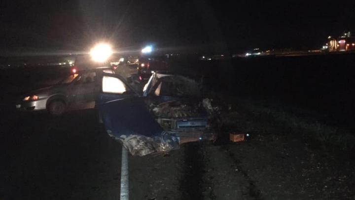 Под Уфой фура протаранила ВАЗ-2112, водитель легковушки скончался до приезда медиков