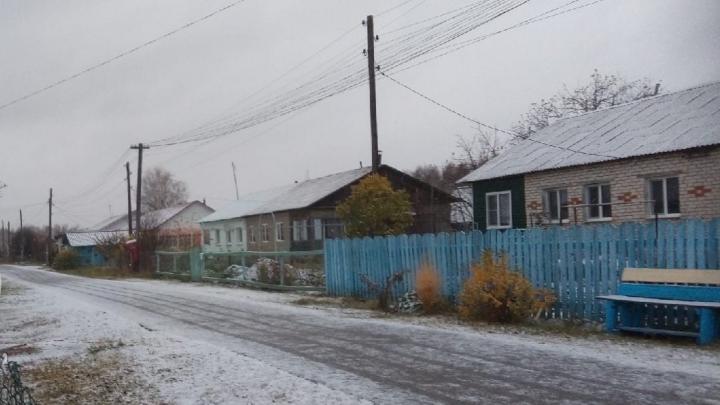 В Нижегородской области выпал первый снег