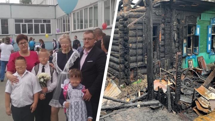 «Пока я детей через забор перекидывала, потеряла мужа»: многодетная мать рассказала о смертельном пожаре в её доме