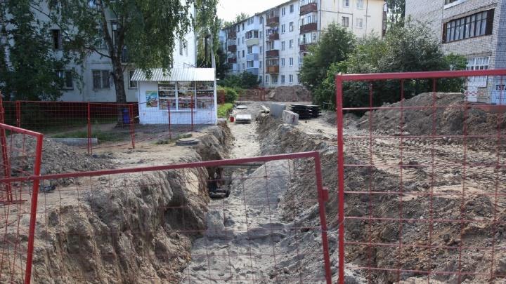 В Ярославле благоустроят двор, который разбили во время ремонта Тутаевского шоссе. Дорого