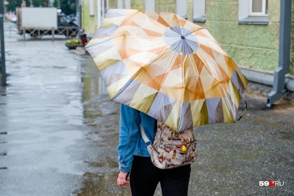Сегодня без зонта на улицу лучше не выходить — будет дождливо