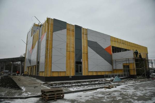 Сейчас здание автовокзала готово на 90%