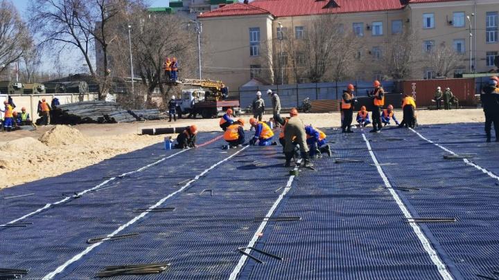 Успеть за три недели: в Волгограде строят госпиталь для пациентов с коронавирусом