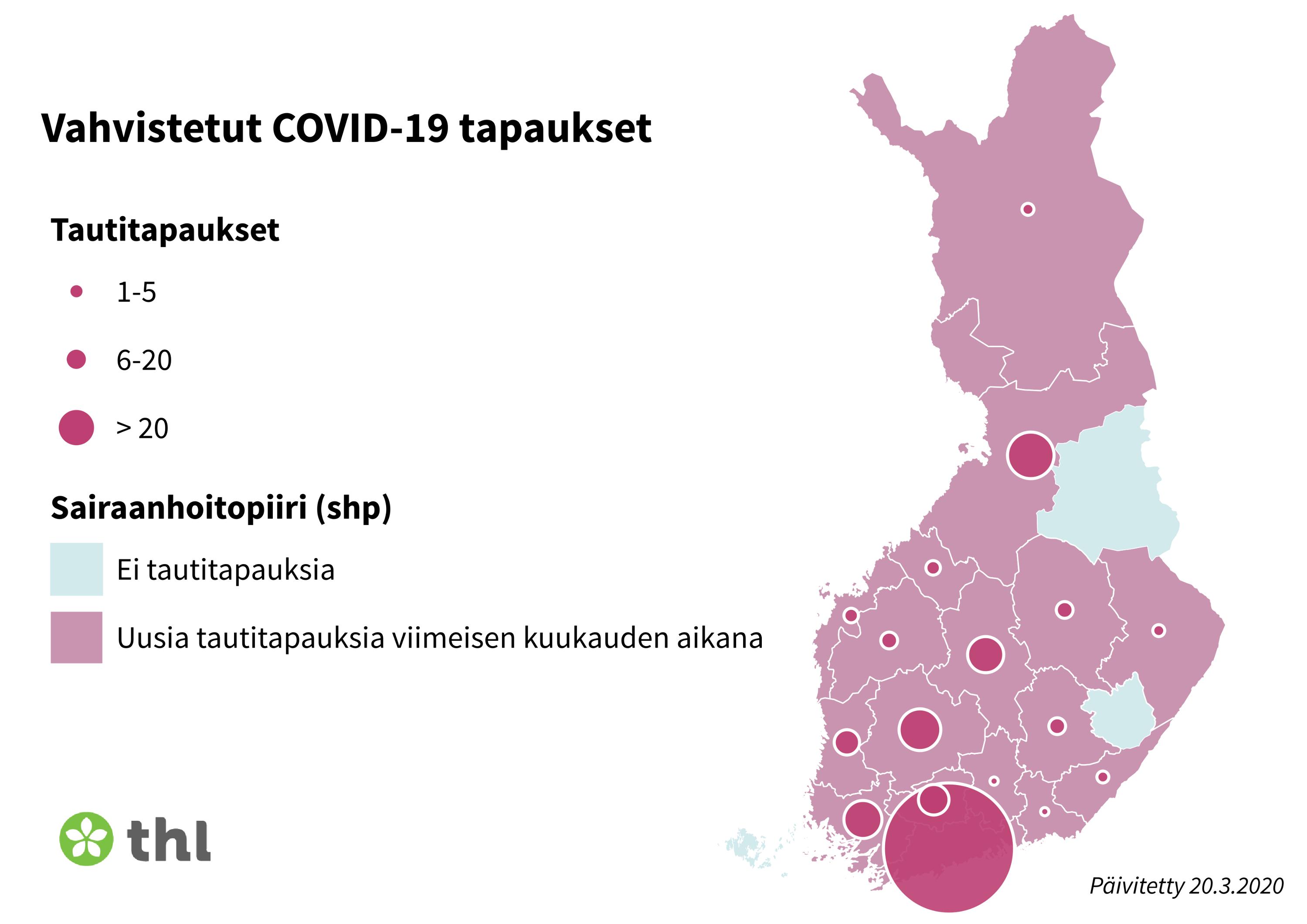 Случаи заболевания коронавирусом по регионам