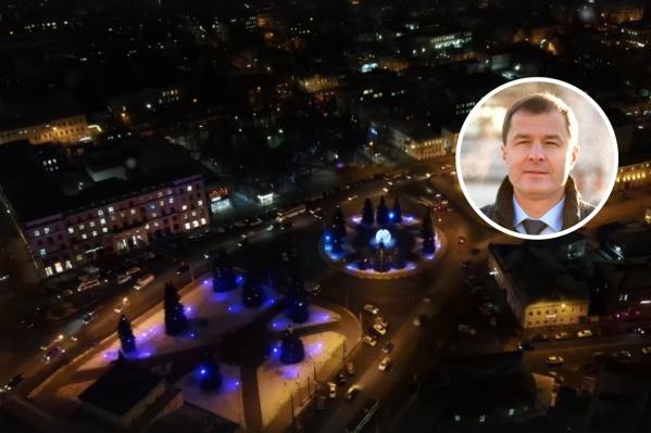Владимир Волков выставил видео с видами новогоднего Ярославля в соцсетях
