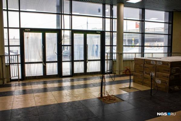 Волейбольный центр изнутри выглядел так в конце февраля