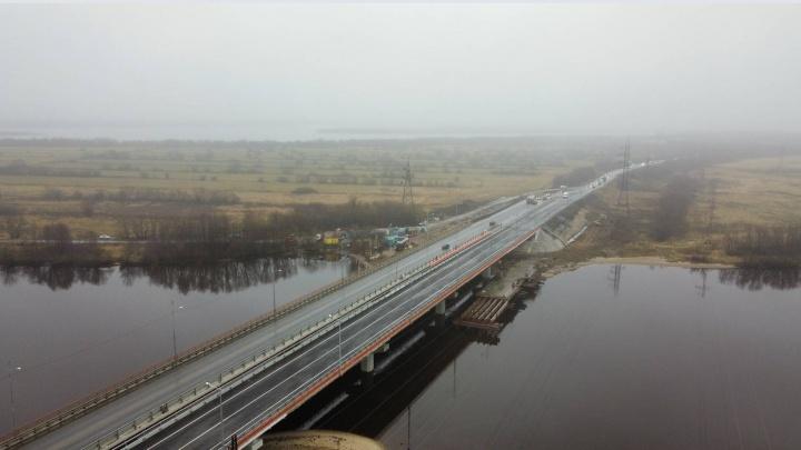 Открыли движение по мосту через Исакогорку после его реконструкции