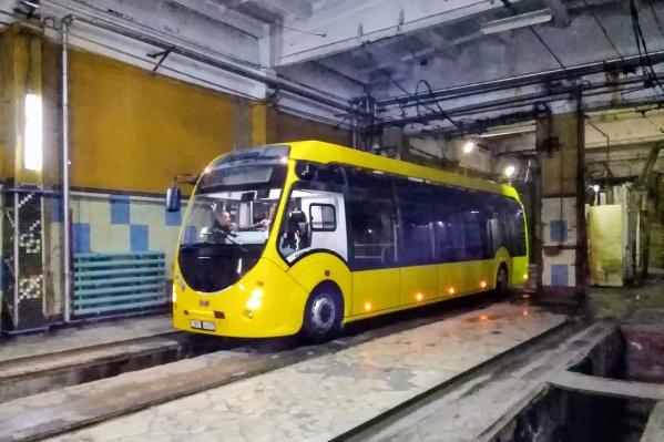 Электробус привезли из Белоруссии