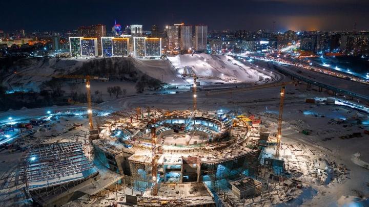 Что происходит на стройке ледовой арены в Новосибирске? 7кадров от Славы Степанова