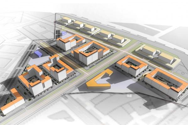 Сейчас новый квартал находится в активной стадии проектирования