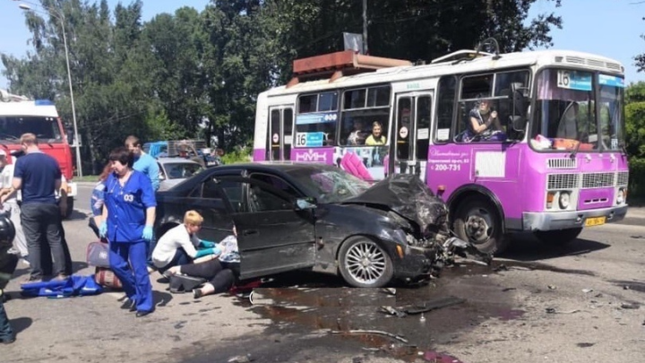В Новокузнецке в ДТП пострадали четыре человека