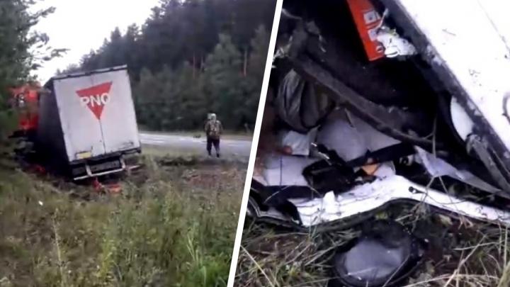 На трассе в Челябинской области пенсионер не уступил фуре, погибли три человека