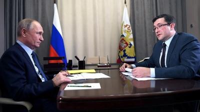 Путин провел встречу с Глебом Никитиным: NN.RU собрал самое главное из беседы в пяти карточках