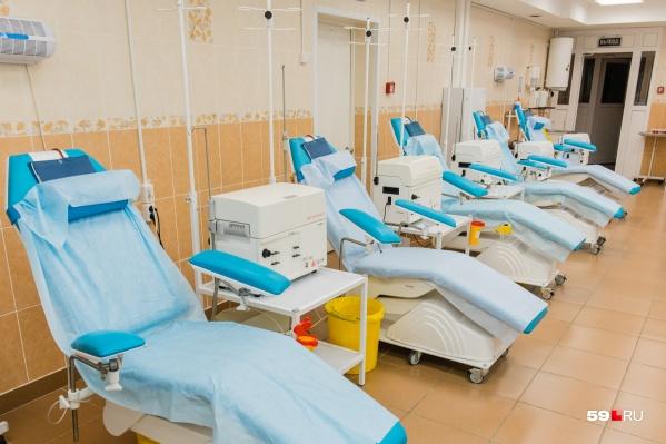 Обычно на станцию переливания крови приходят, чтобы стать донором крови