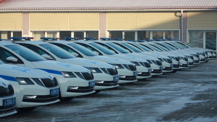 77 новеньких Skoda поступили на службу Красноярскому ГИБДД