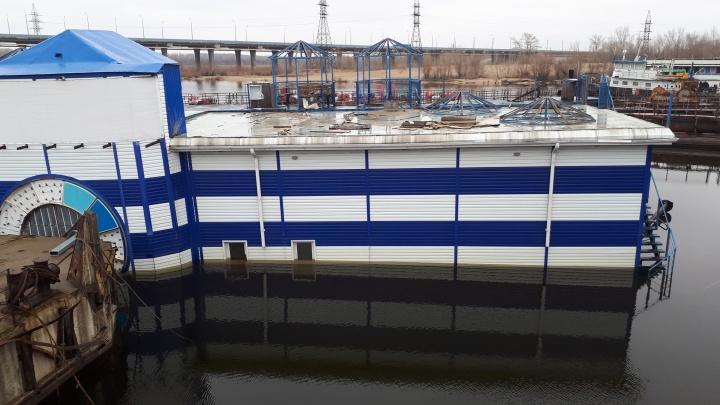В Волгограде затонувший «Баламут» нанёс ущерб Волге в 82 млн рублей