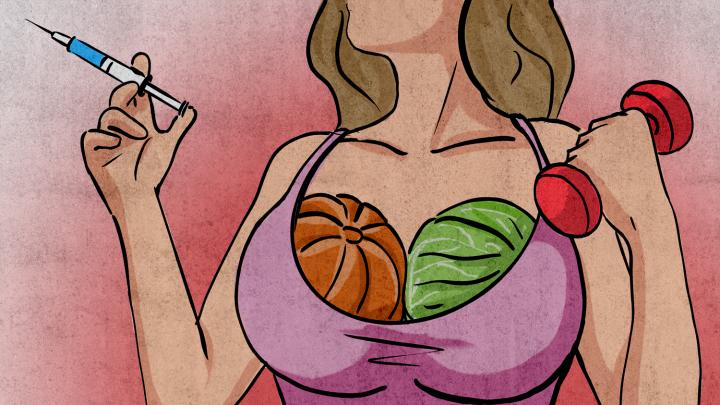 «Визуально увеличится»: правда ли, что грудь растет от капусты, сои и отжиманий — отвечают эксперты