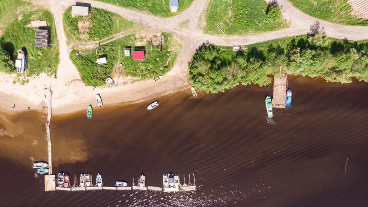 Город крошечный, словно макет: как выглядит Архангельск с высоты — фоторепортаж 29.RU