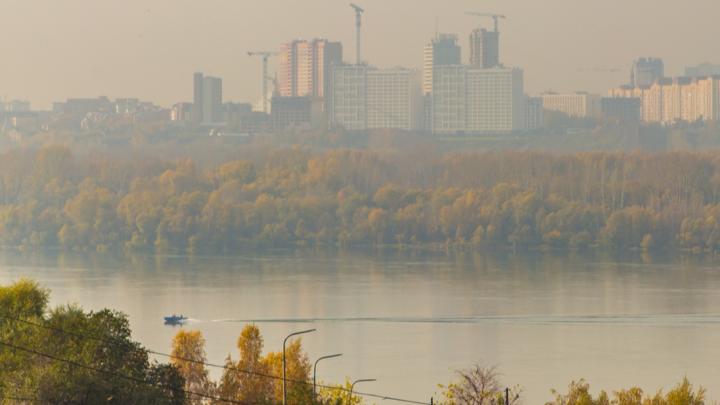В Новосибирске повысился уровень загрязнения воздуха из-за пожара на свалке в районе Хилокского рынка