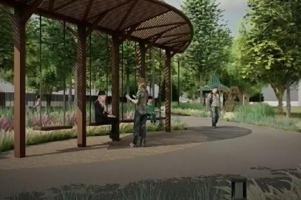 Прогулочная зона в парке Пушкина преобразится в следующем году