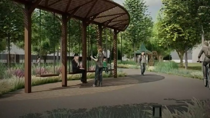 Челябинцам показали, как преобразят прогулочную зону в парке Пушкина