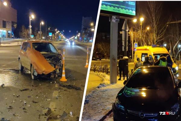 Дорожная авария произошла на пустой дороге в ночь с 11 на 12 ноября
