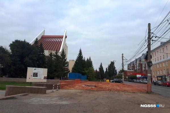 На месте павильонов появится знаменитое омское благоустройство