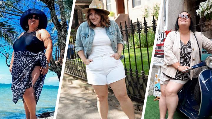 Шорты, бикини и рубашка мужа: красотки с формами — о том, как носить летние вещи, если вы не успели похудеть
