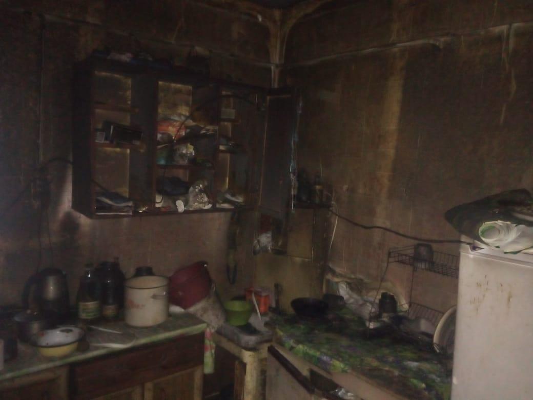 Интерьер сгоревшего дома