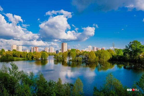 В Перми много зелени и малых рек