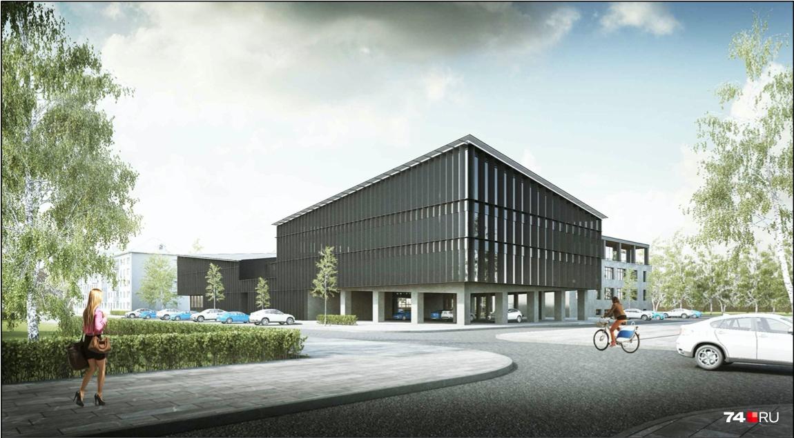 Добраться до нового корпуса, по задумке, смогут и автолюбители, и велосипедисты, и пешеходы