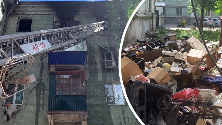 «Тело хозяина квартиры нашли под грудами мусора»: подробности пожара на Физкультурной