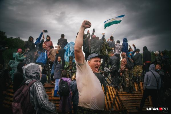 Столкновения с силовиками на Куштау продолжались несколько дней