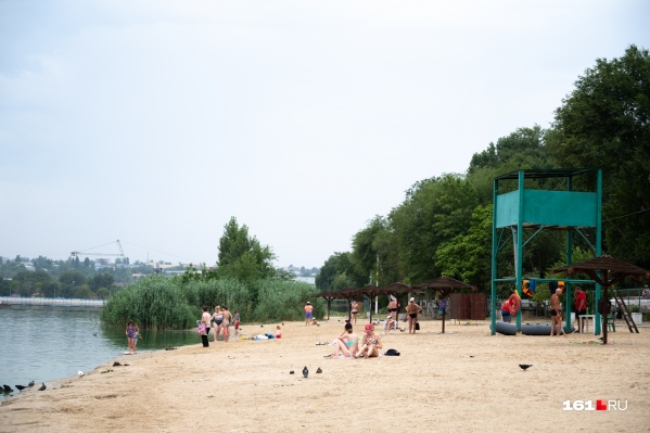 В прошлом году пляж выглядел так