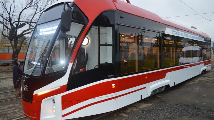 В Пермь прибыл третий новый трамвай — «Львенок»