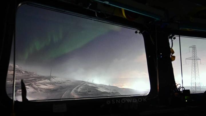 «Пока все спят»: норильчанин снял за городом полярное сияние