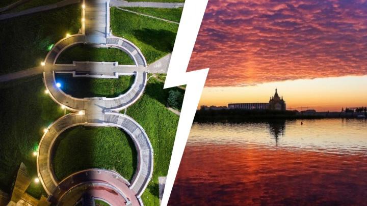 Лучшие фото этой недели: «свет или тьма» на Чкаловской лестнице и первый сказочный закат летом