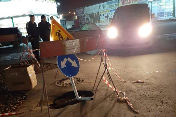 Водитель пострадавшего автомобиля сам установил предупреждающие знаки