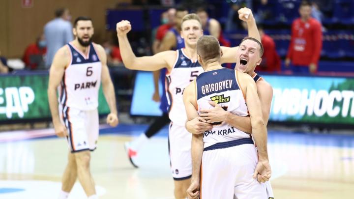 Пермские баскетболисты обыграли ЦСКА со счетом 97:95
