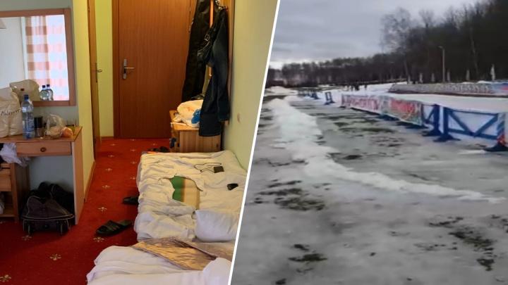 Спортсмены МВД пожаловались на тесноту и отсутствие снега на лыжных соревнованиях в Ярославле