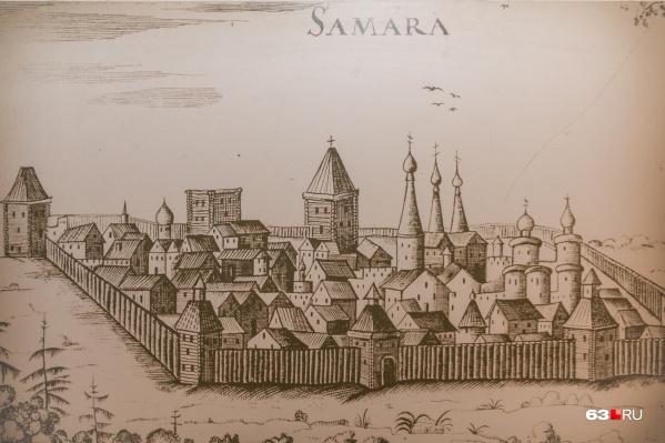 Вот так примерно выглядела Самара в XVII веке, если верить немецкому путешевественнику Адаму Олеарию