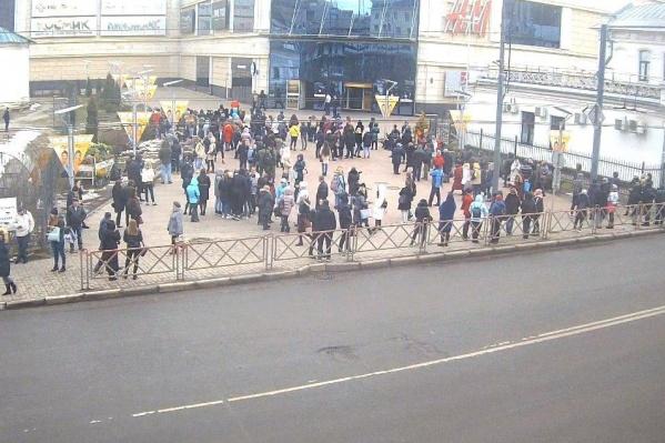 В момент эвакуации в торговом центре было не очень много народа