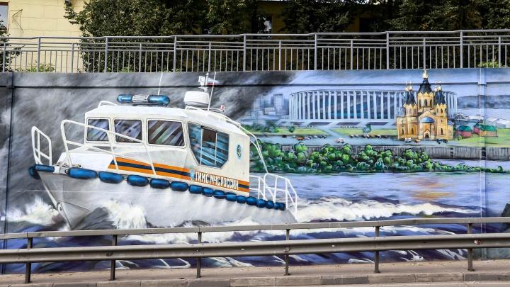 Новая серия эпической саги о пожарных: дзержинский художник продолжил свою работу на Окском съезде