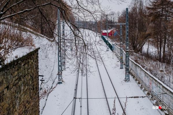 Площадь, занимаемая железнодорожной инфраструктурой вдоль набережной, 57 гектаров