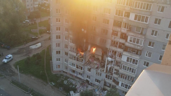 Взрыв жилого дома в Ярославле: появилось видео с места
