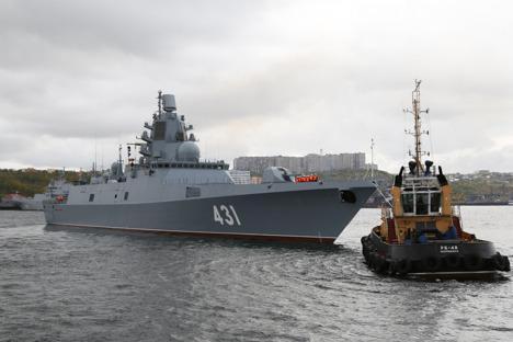 На фрегате «Адмирал флота Касатонов» проведут стрельбы с ракетным оружием в Белом море